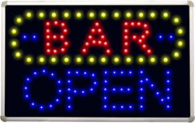 Bar is open sign